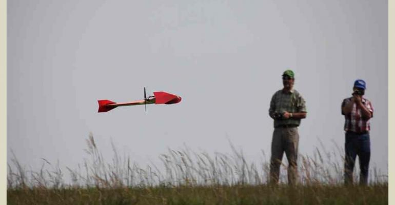 unmanned airplane monitors pasture health