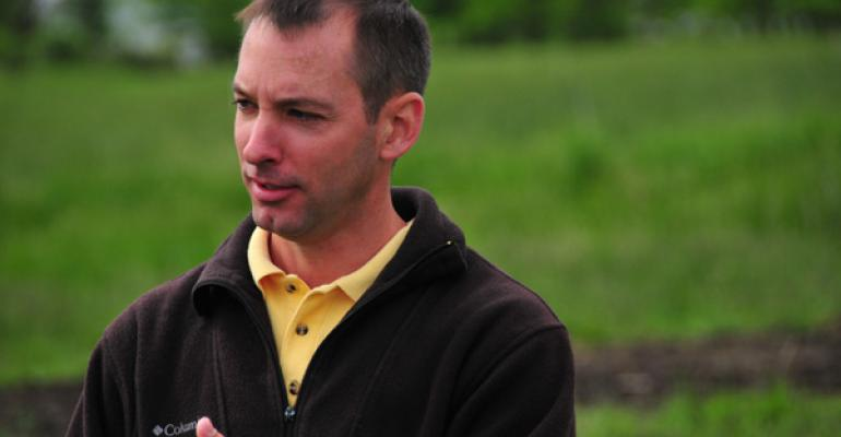 Kevin Bradley University of Missouri knows cows prefer to graze clean grass versus a weedy mixed pasture He offers tips on how to balance your desire for clover with weed management