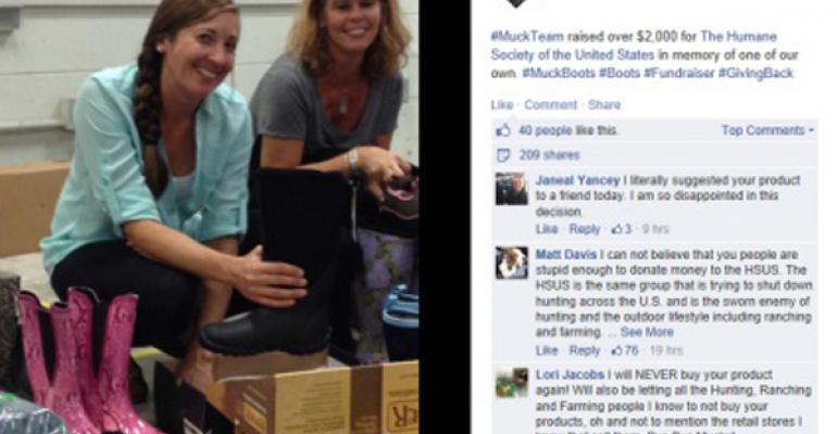 muck boots HSUS controversy