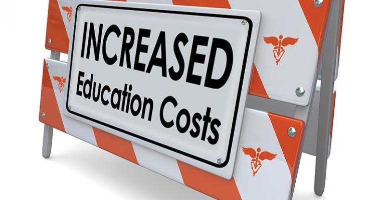 Caution light flashes for vet degree value
