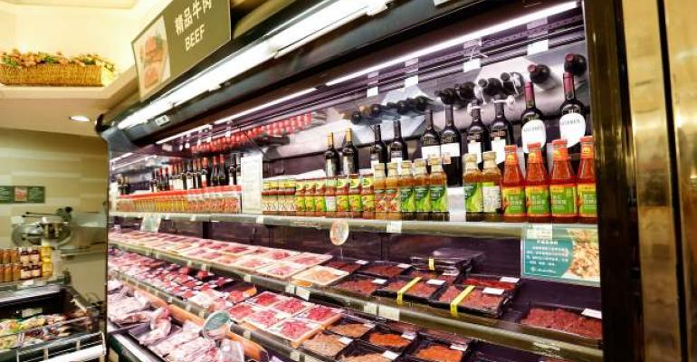 Chinese meat counter