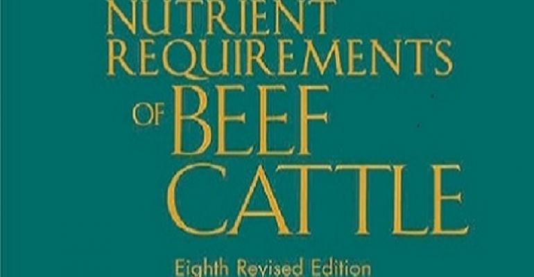 New edition of NRC for beef cattle now available