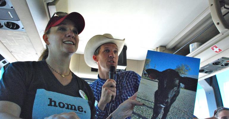How Kansas cattlemen connected with 100 consumers on a tour bus