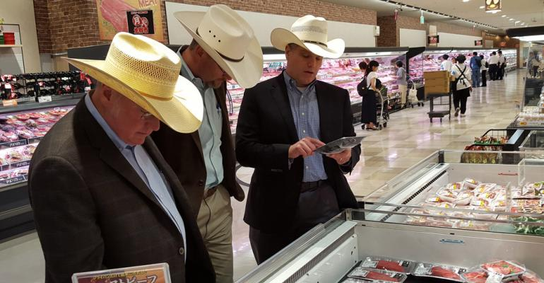 from left to right Bill Wight Bryan Bracewell and Brad Hastings visited retailers in Japan and Taiwan to see how they merchandise beef cuts Photo courtesy of USMEF