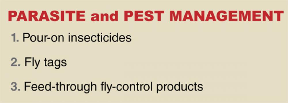 What were the most important innovations in parasite an d pest management?