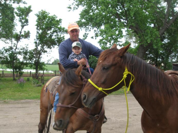 Grandpa Duke And Jhett by Marjean Warren