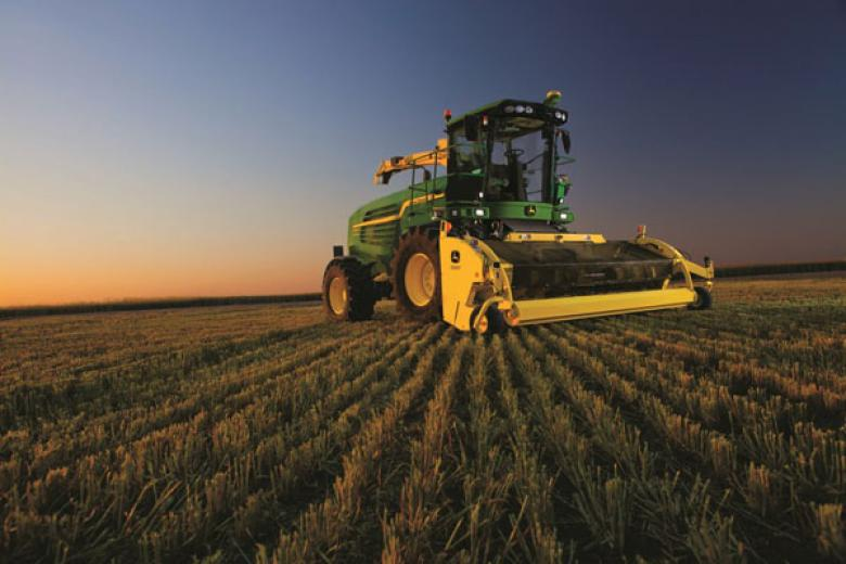 Tier IV compliant forage harvesters