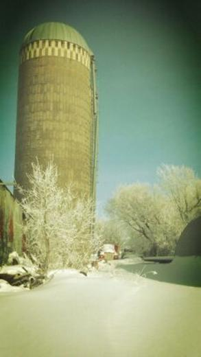 Snow And A Silo by CJ Hulst