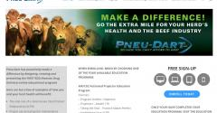 screen shot of training webpage
