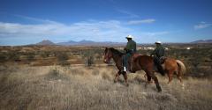 Border Patrol on horseback