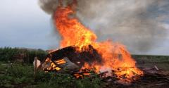 images from a barn burning