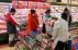 Customers sample U.S. beef at Tokyo supermarket