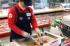 Beef tasting demo in South Korea