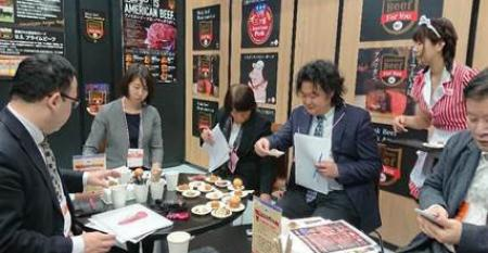 Buyers at Supermarket Trade Show