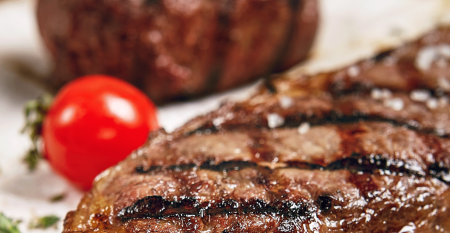 A perfectly grilled steak
