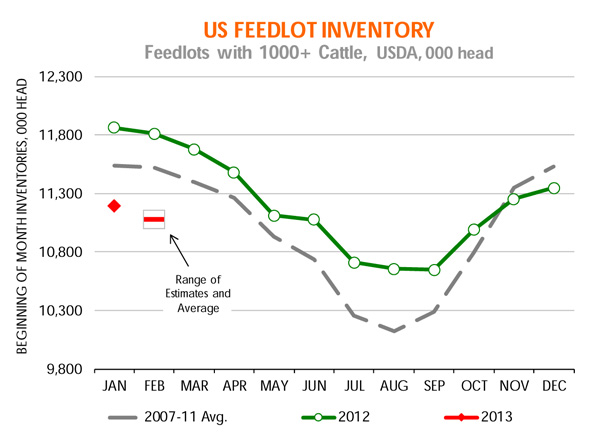 U.S. feedlot inventory - cme report