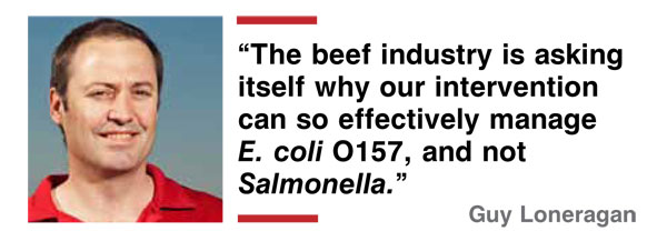 e. coli intervention in beef industry quote