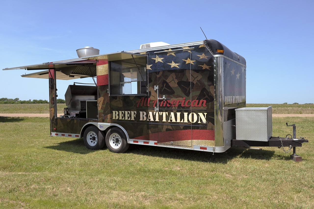 all american beef battalion mobile grilling unit