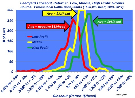 feedyard closeout profits