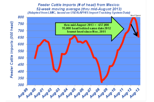 feeder cattle imports from Mexico