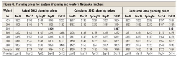 planning prices for cattle producers
