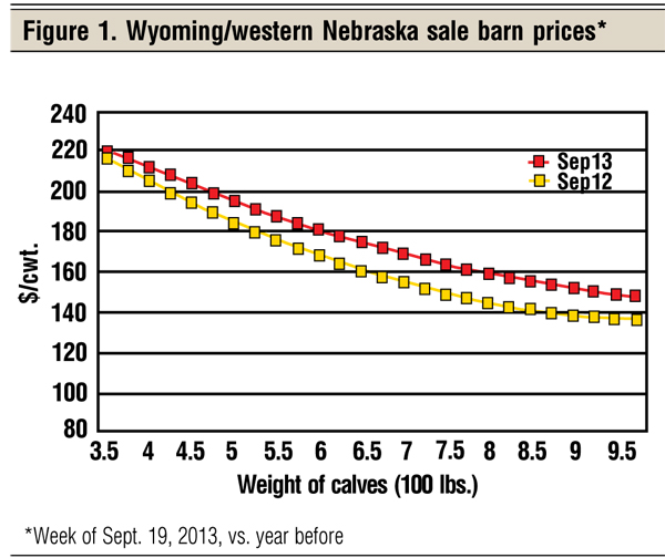 wyomng/nebraska cattle prices