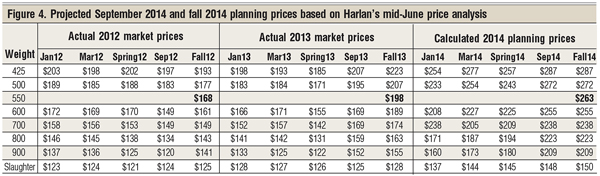 project cattle prices harlan hughes