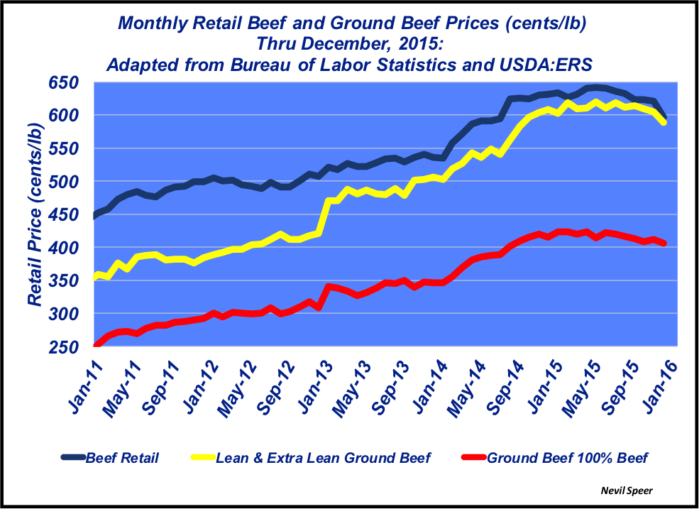 retail ground beef price