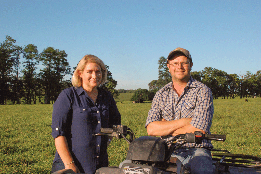 Timberlawn Farm eschews titles, but Jake Crider (right) is Brenda Paul's right-hand man in managing the stocker business on a daily basis. Jake also manages Timberlawn's cow herd.