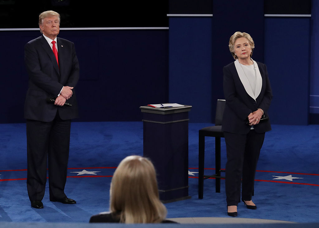 Donald Trump & Hillary Clinton at second presidential debate